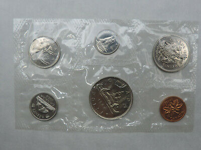 1968 Six Coin Nickel Brilliant Uncirculated Sets Canada No Island Proof Like Set