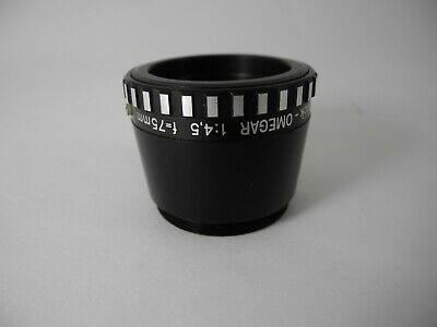 Rodenstock Omegar 75/4.5 Enlarging Lens Made In Germany Perfect Glass Sharp