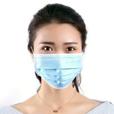 Disposable Medical Dental Industry Dust Proof Face Mask Respirator Blue Surgical