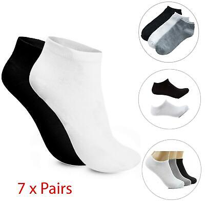 Womens Trainer Liner Ankle Cotton Rich Sports Gym Socks Lot