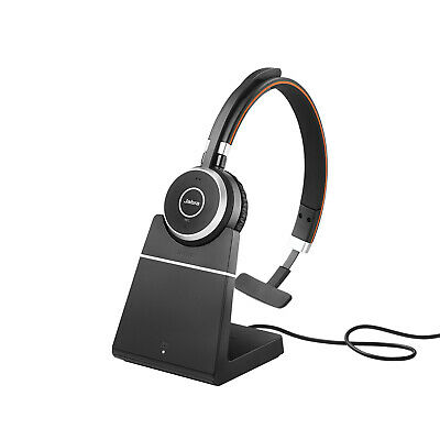 Jabra Evolve 65+ UC Mono Wireless Bluetooth Headphone With Charging Stand NEW