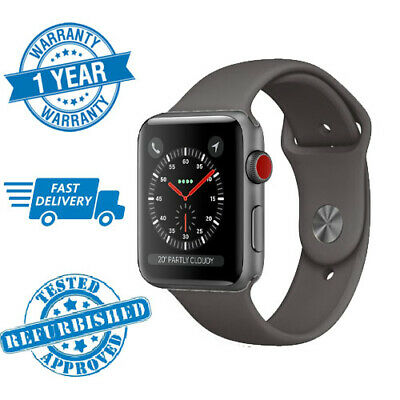 Apple Watch Series 3 42mm GPS + Cellular Space Grey With Grey Sports Band