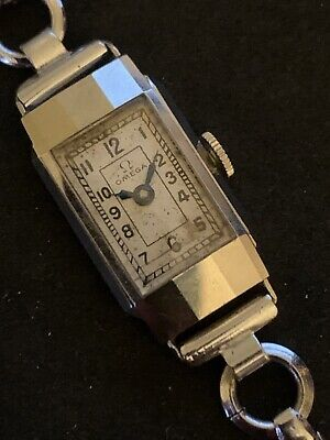 Vintage Ladies Omega Cocktail Watch. Stainless Steel. Circa 1940.