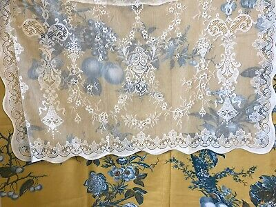 "Lucinda Laura Ashley Victorian style Cream cotton lace panel 36"" x 24"" readymade"