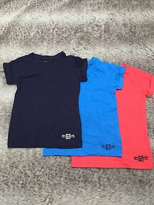 4x NEXT Baby Boys T Shirts Set. Red,Navy, Blue&white.3 Years Old. Bundle
