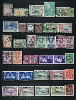 Former GB Colonies / Territories etc, KGV - QEII, 151 stamps, MM condition.