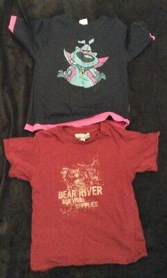 2 Boys short sleeved tops by SK and Rebel Junior aged 5-6 years