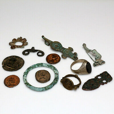 Very Nice Lot Of Ancient Greek Celtic & Roman Artifacts And Coins