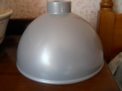 Silver grey metal retro industrial style dome ceiling light shade