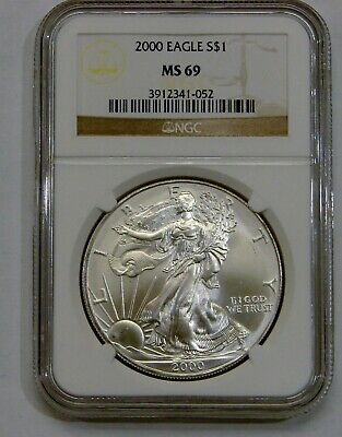 2000 - Silver American Eagle - NGC MS 69 - Brown Label