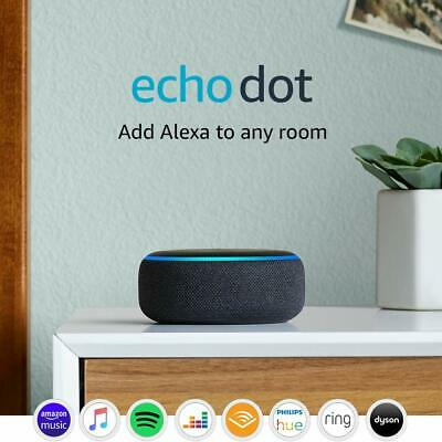 Echo Dot 3rd Generation Smart Speaker With Alexa Charcoal Fabric Device Only New