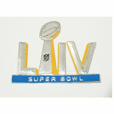Super Bowl LIV 54 Plastic Flex Chrome Iron on Sewn On Jersey Patch  2020