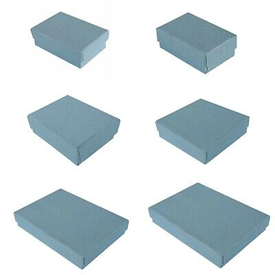 Premium Blue Cotton Filled Gift Boxes Jewelry Cardboard Box Lots of 100~200~500
