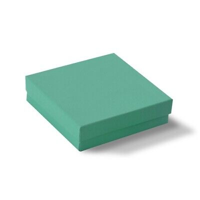 Teal Green Cotton Filled Gift Boxes Jewelry Cardboard Box Lots of 100~200~500