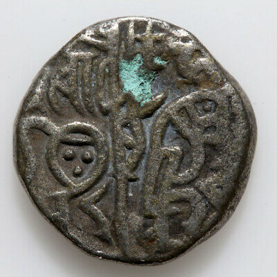 India Coin Medieval Billon Silver Hammered Jital 1000-1200 Ad