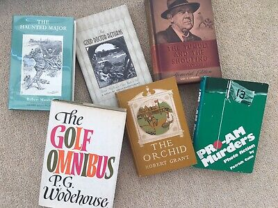 Collection of 6 vintage/antique novels on the subject of GOLF