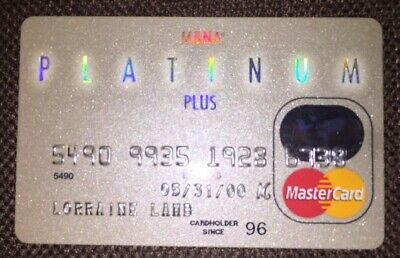 Collectible MBNA Platinum Plus Bank Master Card Credit Card Expired 2000 Signed
