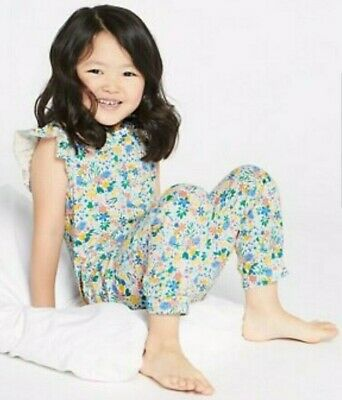New Girls Age 5-6 Years Romper Pyjamas All In One Marks And Spencer Cotton