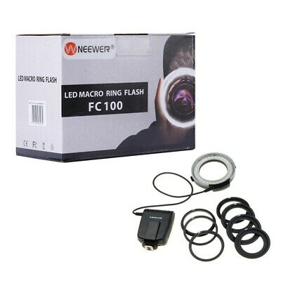 Neewer FC100 LED Light Ring with Adapter Rings - Boxed