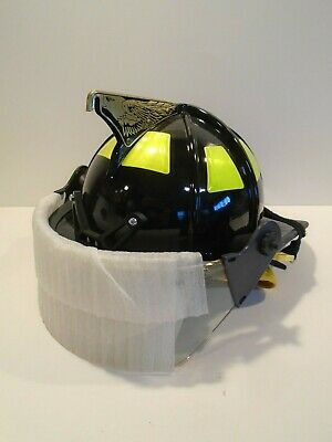 Cairns 1010 Fire Helmet with Full Face Shield - Black NEW OLD STOCK