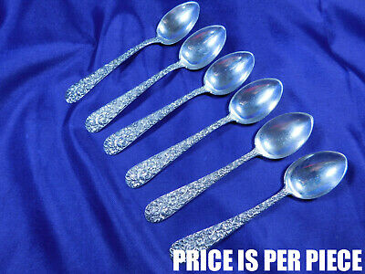 S. Kirk & Son Repousse Sterling Silver Demitasse Spoon Early Mark - Mono