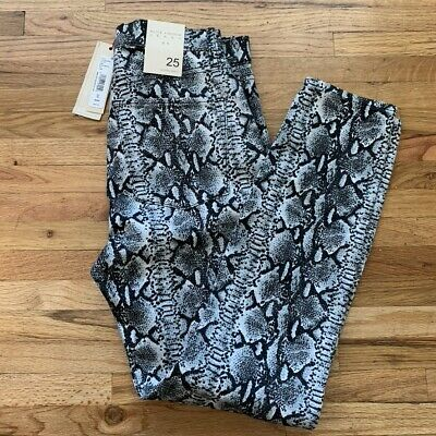 Alice and Olivia Good High Rise Snake Skin Skinny Size 25 NWT