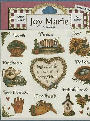 JOY MARIE COLORBOK NOAH/'S ARK ALL GOD/'S CREATURE STICKERS SCRAPBOOKING NEW A2809
