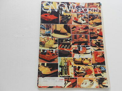 Snow Sports snowmobile magazine Aug. 1970 Ski-Whiz, Scorpion, Poloron, Stormer