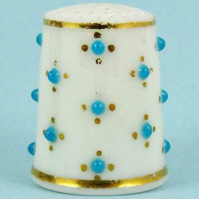 Antique Late 19Th Century Royal Worcester English Jeweled Porcelain Thimble