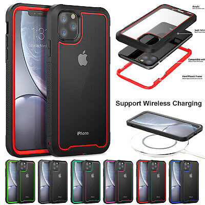 For iPhone 11 Pro Max X XS XR 6 7 8 Plus Heavy Duty Shockproof Clear Hybrid Case
