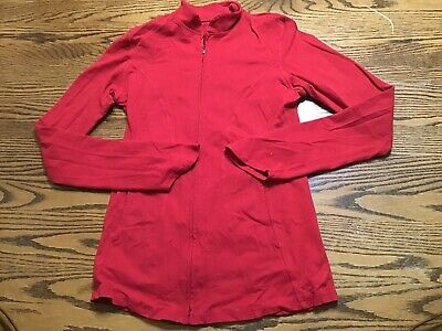 Beyond Yoga Red Jacket Size Small Long Sleeve Stretch A2