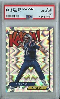 Tom Brady 2018 Panini Kaboom! #TB New England Patriots PSA 10 (Breakers.Rowe)