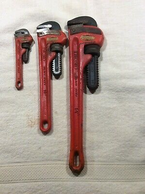 Ridgid Heavy Duty Pipe Wrench Lot Of 3 Size 14-10-6