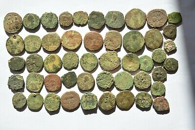 Lot 49 Byzantine bronze Follis for cleaning 500-700 AD.  02