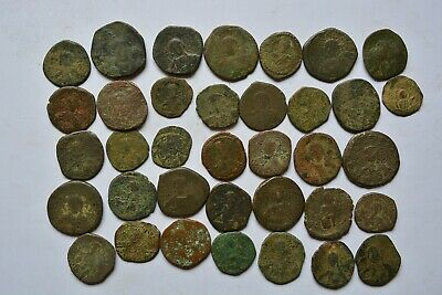 Lot 36 Anonymous Byzantine bronze Follis for cleaning