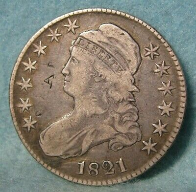 1821 Capped Bust Silver Half Dollar * United States Coin