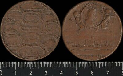 Austria: 1685 Leopold I Victories medal in bronze Very Scarce.