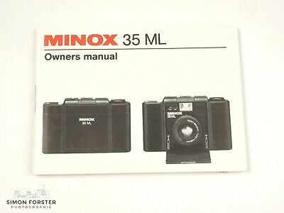 Minox 35ML Instructions in English and German