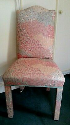 Unusual Professionally Upholstered High Back Bedroom Occasional Chair Ex Cond