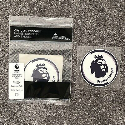 1 x Pair of New Premier League 2019/20 Player Size Shirt Sleeve Patches / Badges