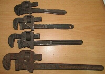 4 x Large Pipe Wrench Grips including RECORD