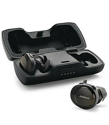 New Bose Soundsport Free Wireless Earbuds W/ Charging Case Black