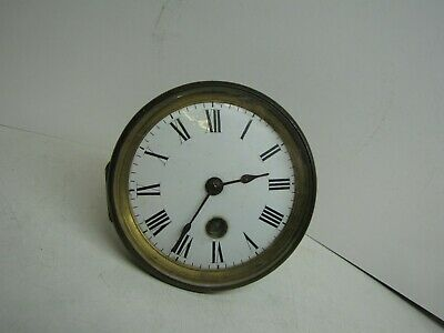 A French Timepiece Clock Movement, Dial & Bezel for spares