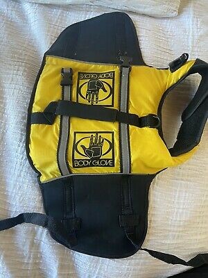 Size S Small DOG LIFE VEST Lifejacket Body Glove Flotation Device Yellow