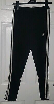 Adidas Climacool Boys Black  Tracksuit Trousers size y/l 152cm aged 10-11 years