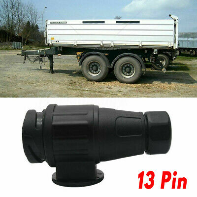13 Pin Trailer Caravan Electric Lighting Euro Towing Plug Adapter Socket 12V
