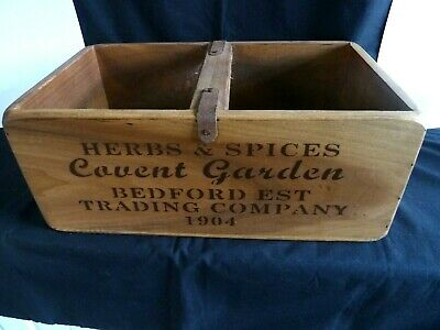 Wooden Herbs Spices Wooden Crate Shabby Chic