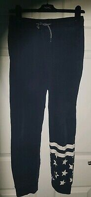 H M Boys Star Joggers aged 11-12years old 152cm tall navy white
