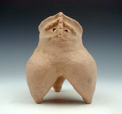 Chinese MaJiaYao Culture Pottery Tripod Unique Jar Cup #03271901