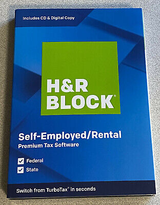 H&R Block Premium + State Tax Software 2019 New Retail Box 735290106674